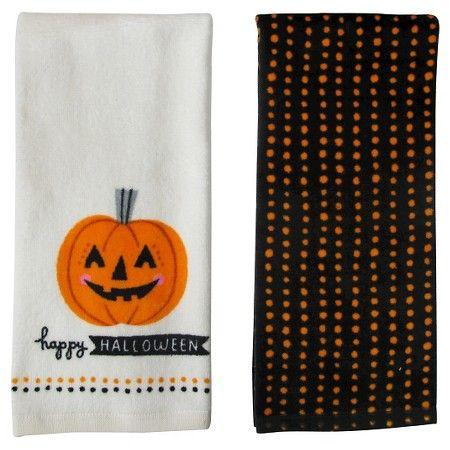 """Halloween """"Happy Halloween"""" Terry Towels (2 pk) - Spritz™ : Target"""
