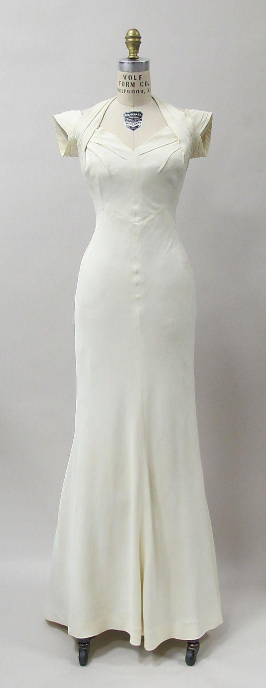 1933 Charles James Evening Dress
