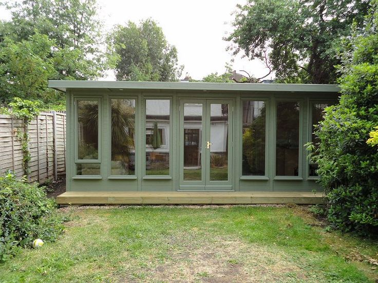 Best 25 garden buildings ideas on pinterest garden for New build garden designs