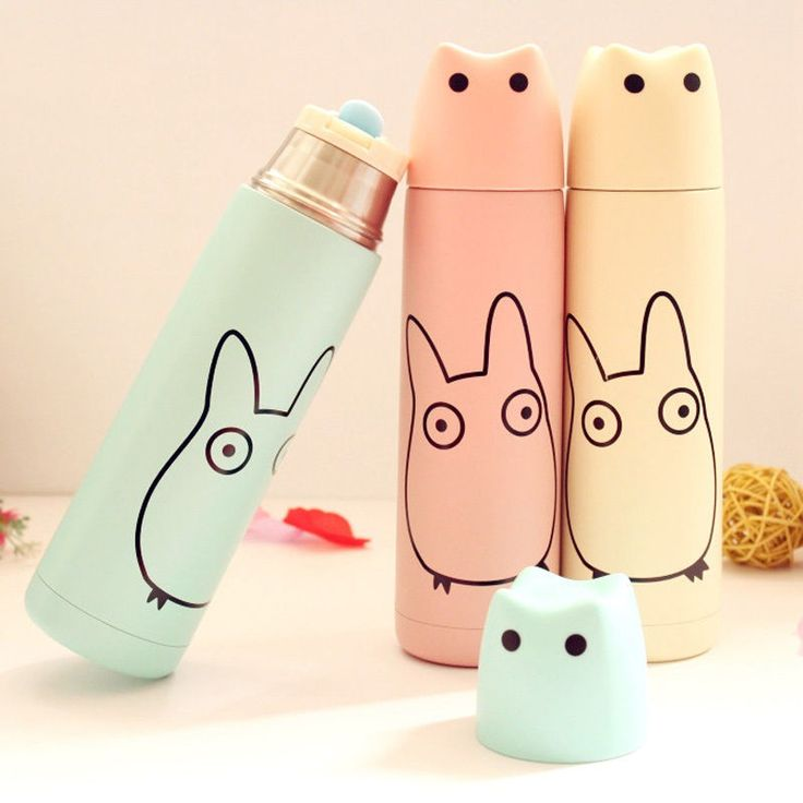 500ml cute cat stainless steel thermos bottle vacuum cup