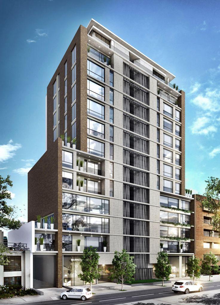Area 98.  Apartamentos Comercio & Oficinas Carrera 11B No. 98-36, Bogotá, Colombia www.glarquitectos.com