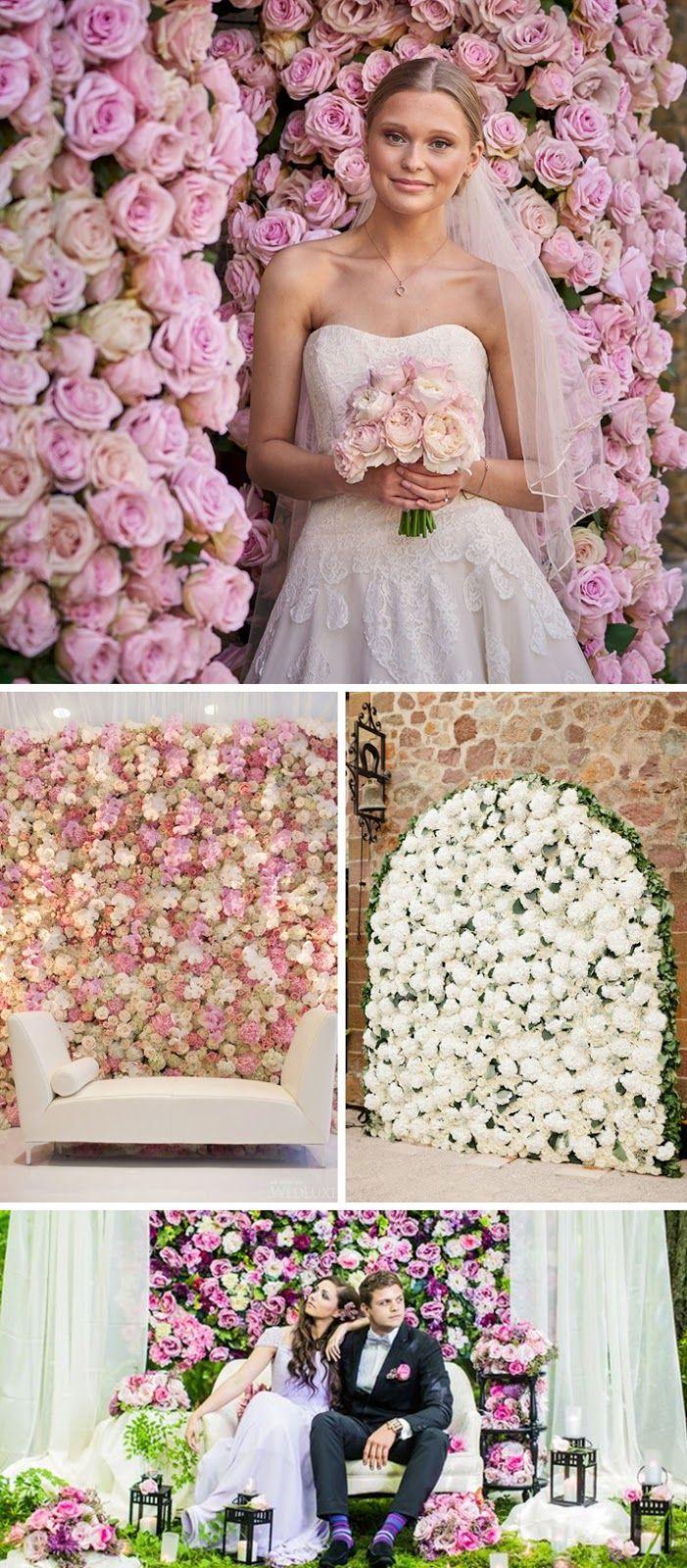 Tło do zdjęć - Ściana ze świeżych kwiatów lub ziół