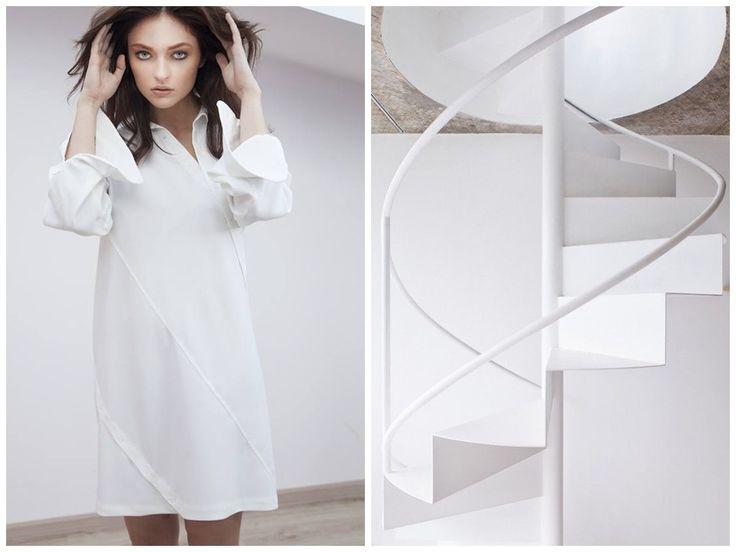 Inspiration behind Elena Ciuprina Spring 2015 collection./ architecture,  interior, staircase