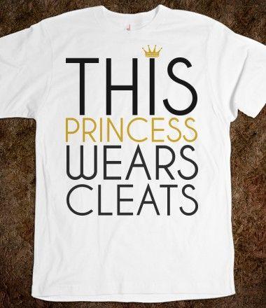 This Princess Wears Soccer Softball Cleats tee tshirt t shirt