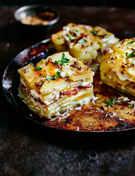 Dauphinoise potatoes with ham hock and mustard - Sainsbury's Magazine