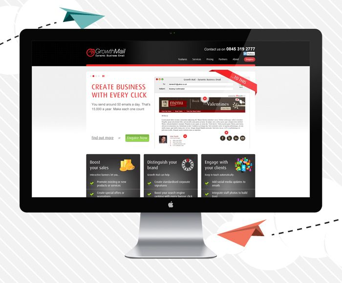 Growth Mail Brochure Style Website