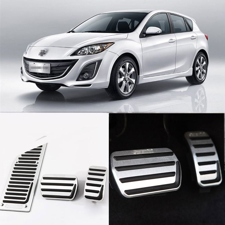 Brand New 3pcs Aluminium Non Slip Foot Rest Fuel Gas Brake Pedal Cover For Mazda 3 2011-2015 AT
