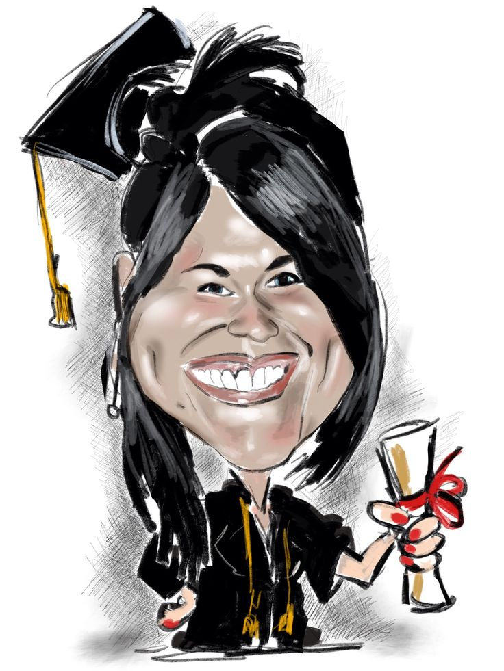 Congratulazioni dottoressa! Caricature per laurea e feste di diploma su www.latuacaricatura.it