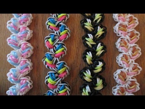 """""""Entrapped Spiders"""" Hook only Rainbow Loom Bracelet/How to tutorial - YouTube"""