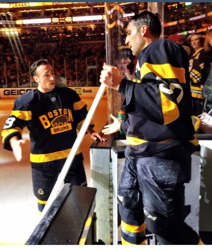 Brad Marchand and Patrice Bergeron photo credit everythingBruins