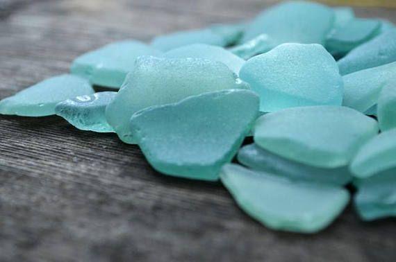 Blue sea glass for sale Sea glass decor Coastal home decor
