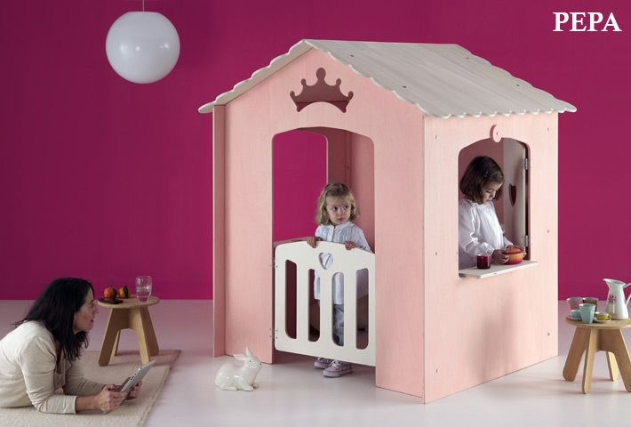 Casita de juegos modelos PEPA / Indoor playhouse PEPA,,,,our little ladies will love it!!!