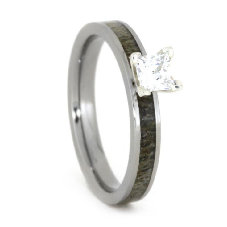 Deer Antler Engagement Ring