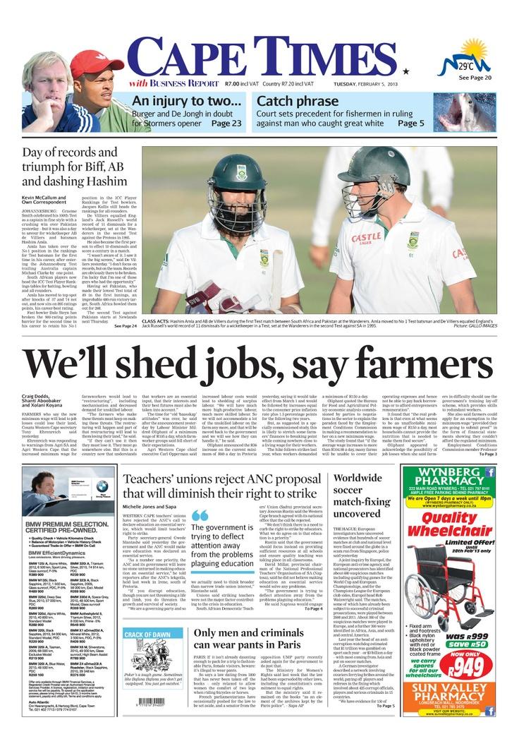 News making headlines: We'll shed jobs, say farmers