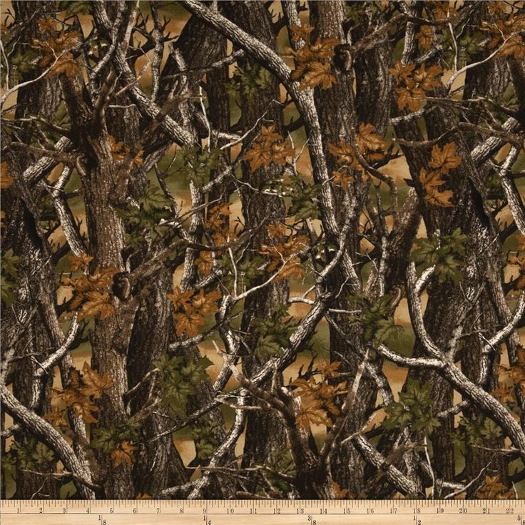 Fabric For The Gunroom Camo Tree Camo Green Brown The