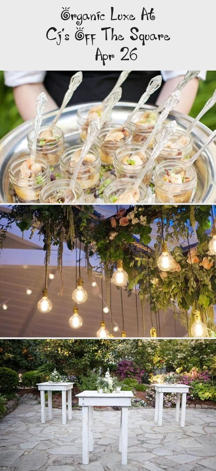 Jan 27, 2020 - Organic Luxe Garden Wedding near Nashville. Love these grey farm tables and the muted blue, peach and green florals. Southern chic! Venue: CJ's Off the Square Florist: The Enchanted Florist Rentals: Southern Events Party Rental Printed Pieces: Designs in Paper Lighting: Nashville Event Lighting #Tropicalgardenwedding #gardenweddingShoes #gardenweddingTable #gardenweddingAltar #gardenweddingHairstyles