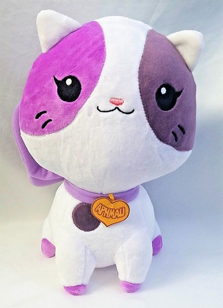 Youtube Stuffed Animals, New Aphmau Sprinkles Rare Kitty Cat White With Purple Plushie Minecraft Youtube Aphmau Kitty Sprinkles Kitty Aphmau Cat Plush