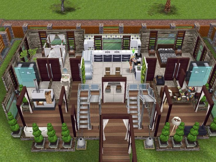 House 66 Ground Level #sims #simsfreeplay #simshousedesign
