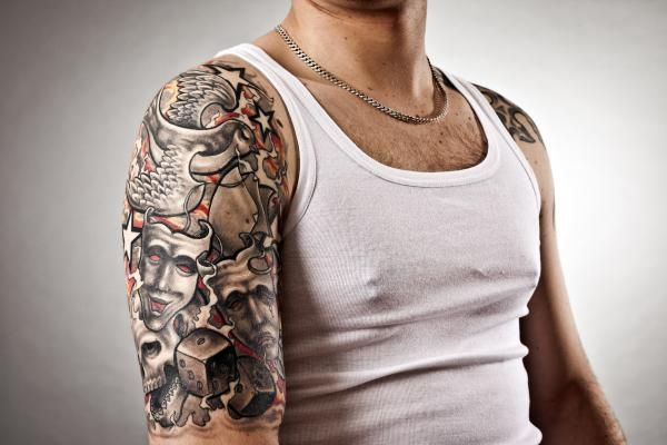 Bicep Tattoos For Men | Top half sleeve tattoo designs for ...
