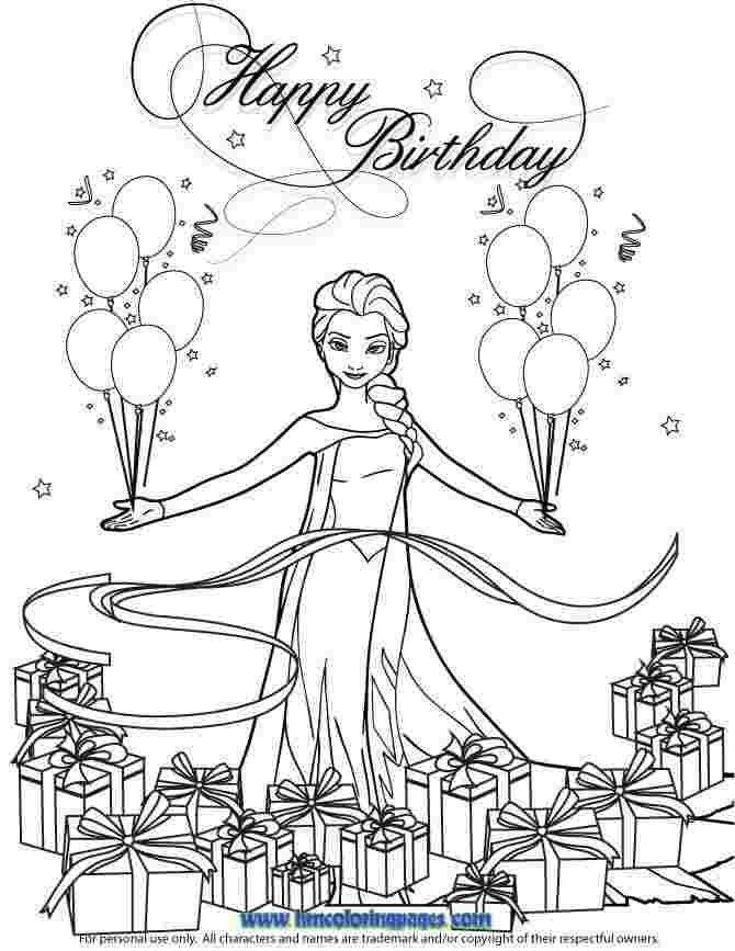 Olaf Happy Birthday Coloring Pages Portraits