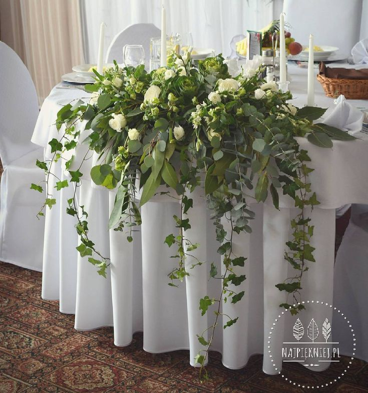 Dekoracja stołu państwa młodych   #wedding  #wesele #slub #bouquet #bukiet #dekoracje #autumn #jesień #white #green #greenery #love #nature #inspiration #october #decoration #nature #withlove  #flowers  #kwiaty #instagood #beauty #photoftheday #followme #ilovemywork