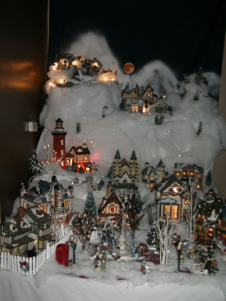 Best images about christmas village displays on pinterest