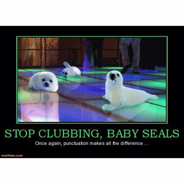 Grammar, children, grammar.: Parties Animal, Grammar Jokes, Dance Floors, Grammar Humor, Make A Difference, English Teacher, Funny Picture, Funny Stuff, Baby Seals