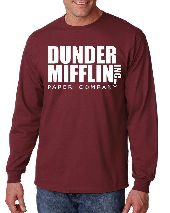 Dunder Mifflin Long Sleeve T-Shirt From the TV by DesignerTeez