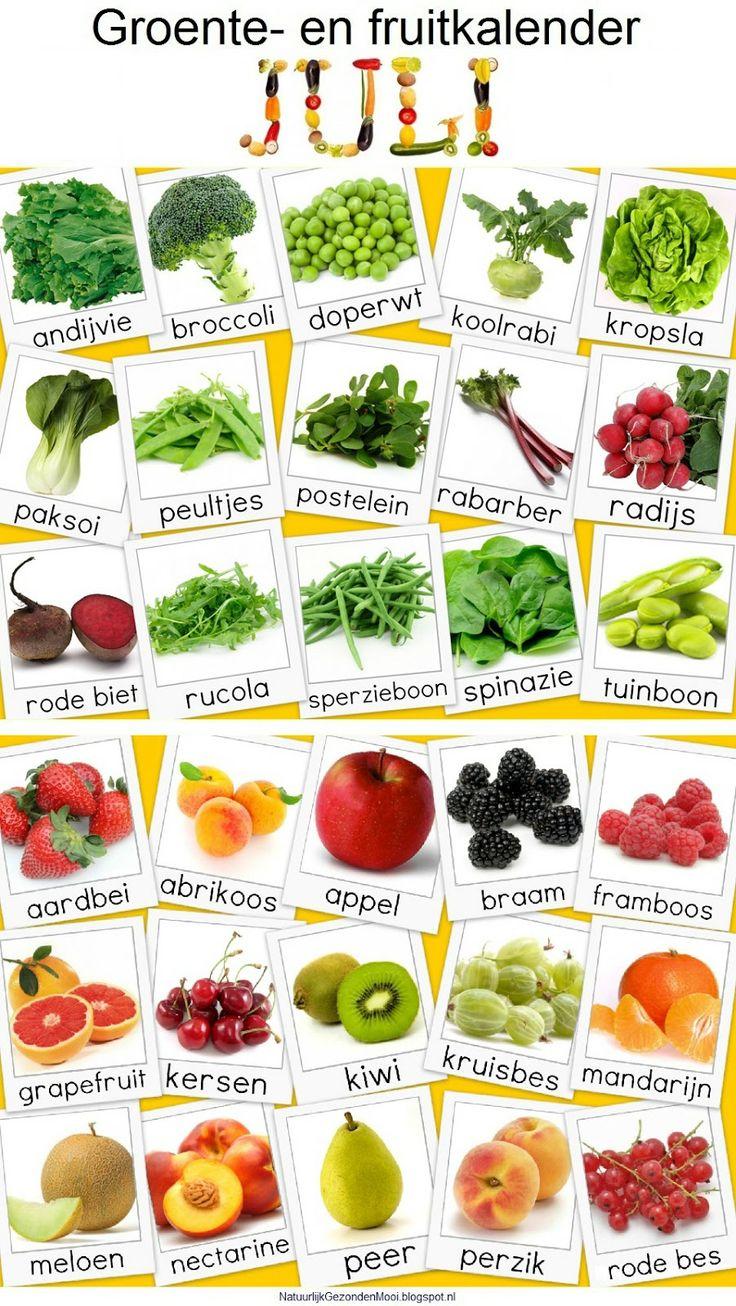 Natuurlijk Gezond en Mooi: Groente- en fruitkalender juli