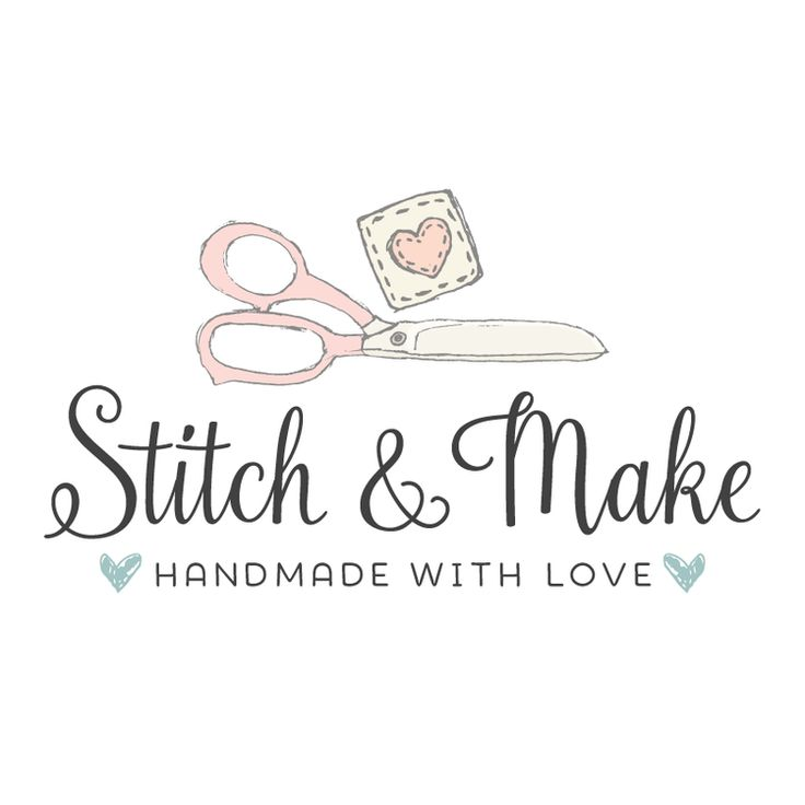 Sewing or Crafting Premade Logo Design - Customized with Your Business Name