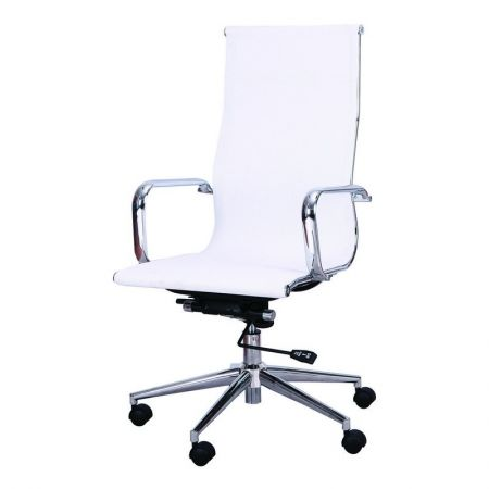 Joveco Mesh Mid-Back Adjustable Home Office Desk Arm Chair Office 360 swivel Chair, White