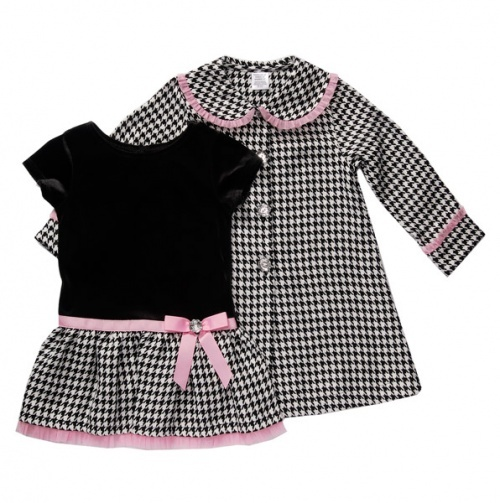 Houndstooth Dress and Coat