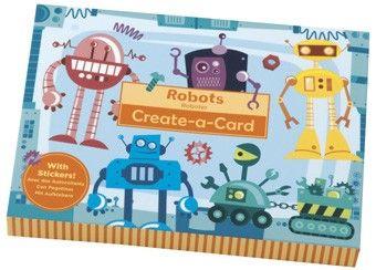 Buntes Set zum Roboterkarten basteln von Mudpuppy