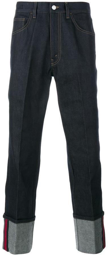 Gucci web detail jeans