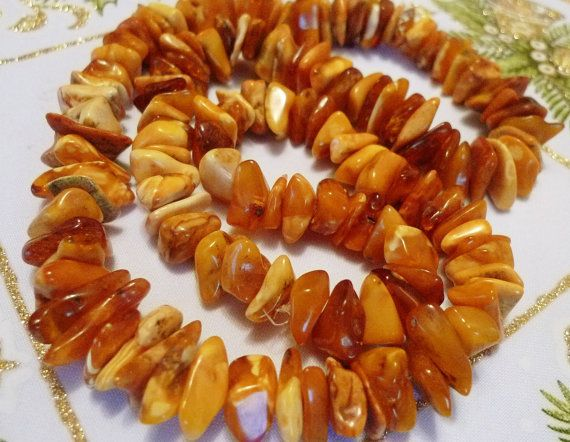 Vintage jewelry w. antique gemstones Baltic AMBER by ForCollecting