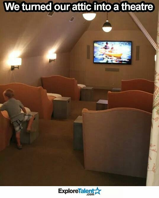 1000 Ideas About Theater Rooms On Pinterest: 1000+ Ideas About Attic Theater On Pinterest