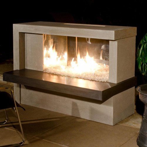 American Fyre Designs Manhattan 59-Inch Outdoor Propane Gas Fireplace -  Cafe Blanco - 17 Best Ideas About Outdoor Propane Fireplace On Pinterest Fire