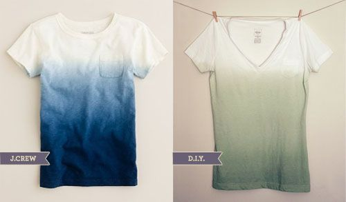 Dip Dyed Ombre Shirt Tutorial. Turns out you shouldn't do this and bake bread at the same time. Practice on a rag-shirt first!