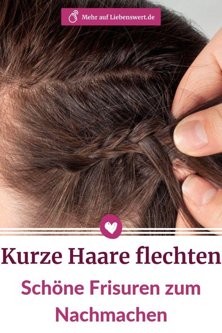 Kurze Haare flechten: Ideen + Tipps für einfache Flechtfrisuren