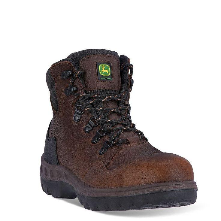 John Deere Men's Waterproof Steel-Toe Hiking Boots, Brown