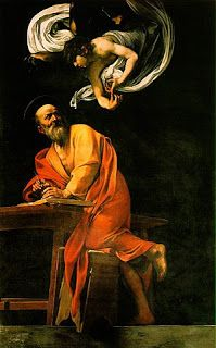 The Inspiration of Saint Matthew by Caravaggio            The 21st of September is the feast day of Saint Matthew the Apostle. He is the patron saint of accountants; Salerno, Italy; bankers; tax collectors; perfumers; and civil servants