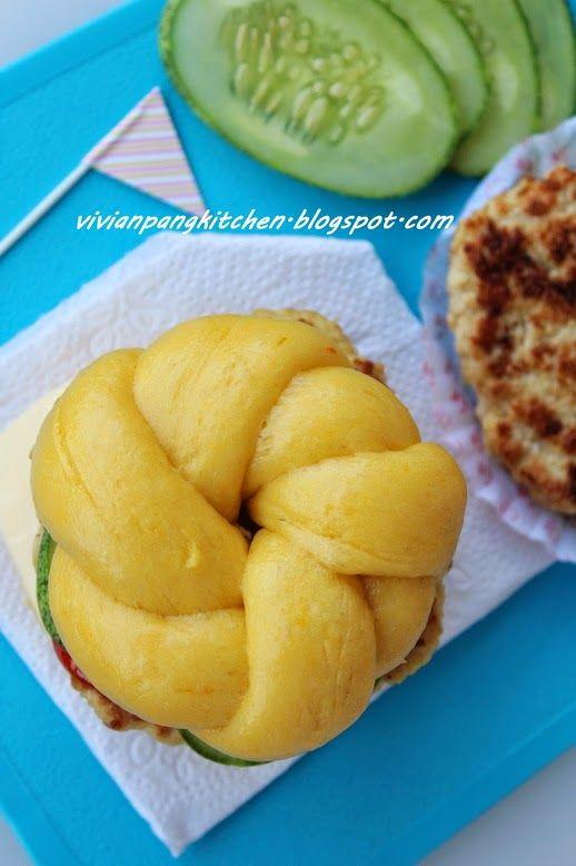 Vivian Pang Kitchen: Pumpkin Steamed Buns (南瓜包子)