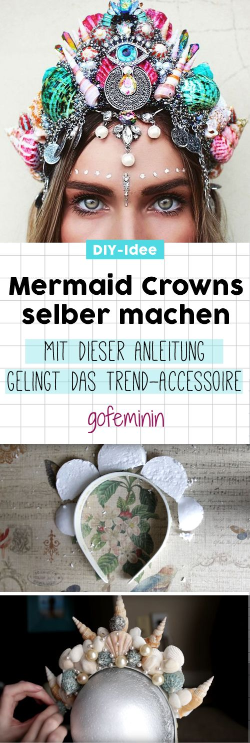 Mermaid Crowns selber machen - so geht's! Super Hero shirts, Gadgets