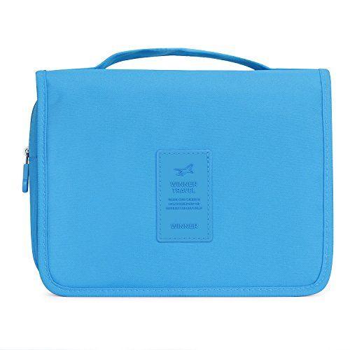 Nuova offerta in #bagaglio : Portatile pieghevole da viaggio borsa da toletta da appendere con gancio da porta trucchi Cosmetic Bags Blu Azzurro medium a soli 10.99 EUR. Affrettati! hai tempo solo fino a 2016-10-08 23:45:00
