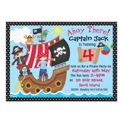 #Pirate Birthday Party Invitations - #rsvp #cards épondez s'il vous plaît