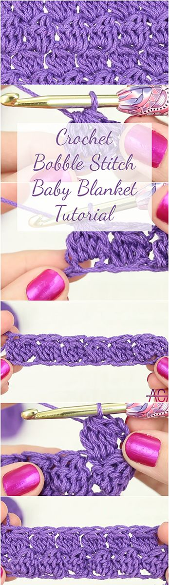 Crochet Bobble Stitch Baby Blanket Tutorial