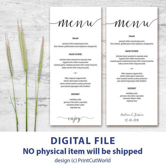 Pinterest'teki 25'den fazla en iyi Wedding menu template fikri ...