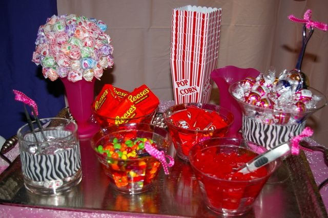 Pink zebra theme birthday party ideas the o 39 jays spa for 13th birthday party decoration ideas