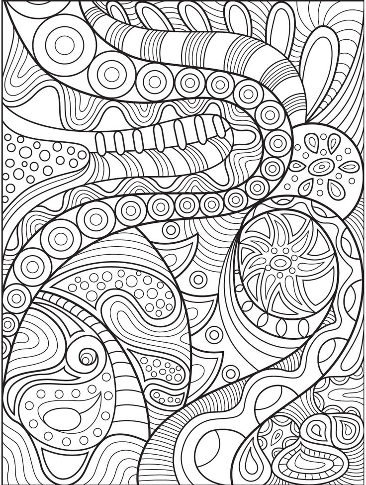 Abstract coloring page on Colorish: coloring book app for ...