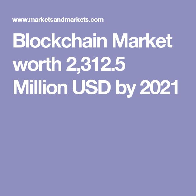 Blockchain Market worth 2,312.5 Million USD by 2021